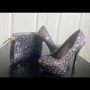 Glitter Shoe and Bag Set